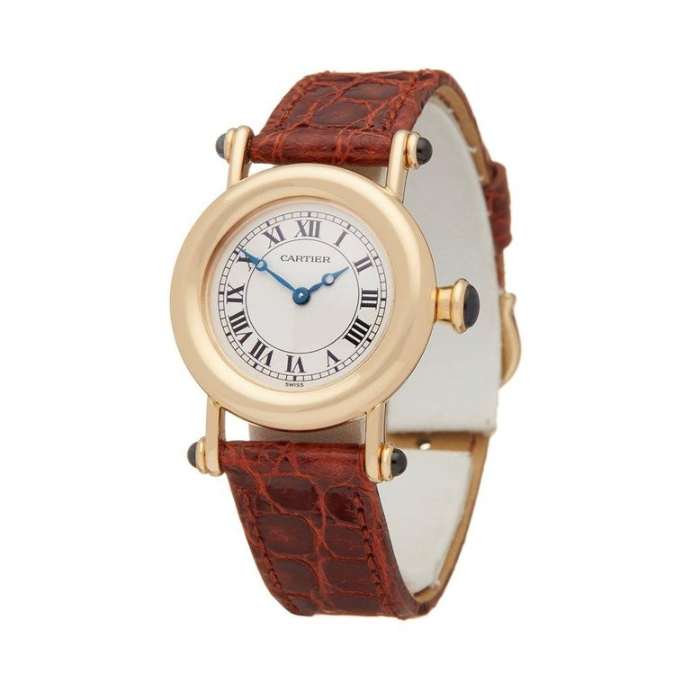 Xupes Reference: W6361 Manufacturer: Cartier Model: Diabolo Model Variant:  Model Number: W1507551 or 1440 Age: 01-12-1994 Gender: Ladies Complete With: Cartier Box Manuals & Guarantee Dial: White Roman Glass: Sapphire Crystal Case Size: 27mm Case