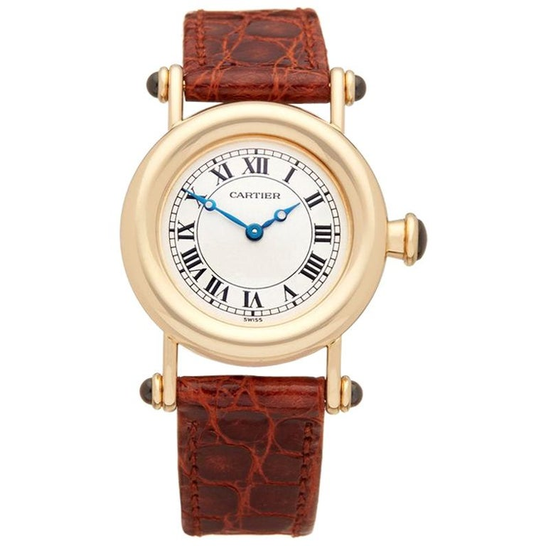 Cartier Diabolo W1507551 or 1440 Ladies Yellow Gold Watch For Sale