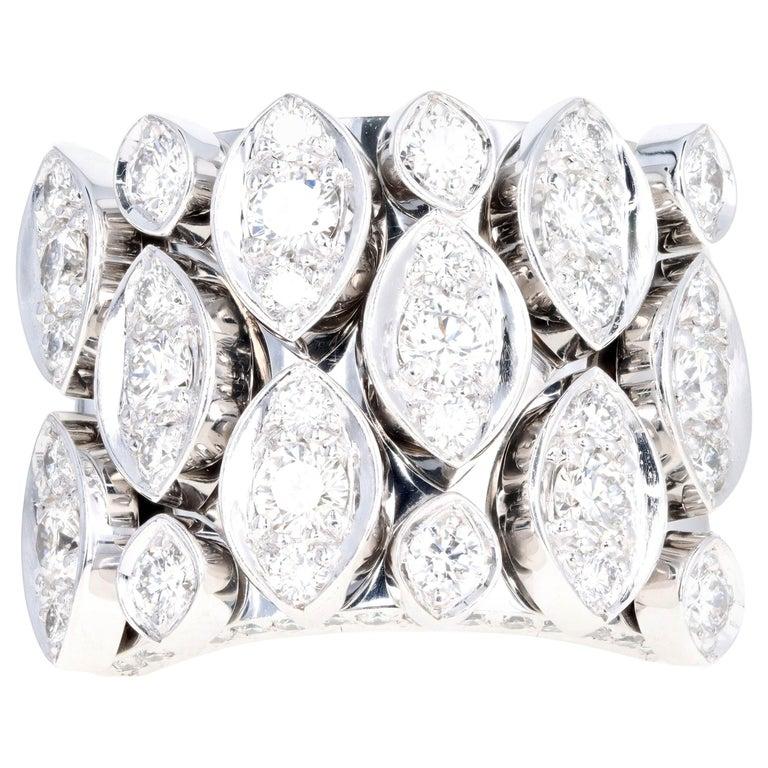 Cartier Diadea 18 Karat White Gold Diamond Ring For Sale