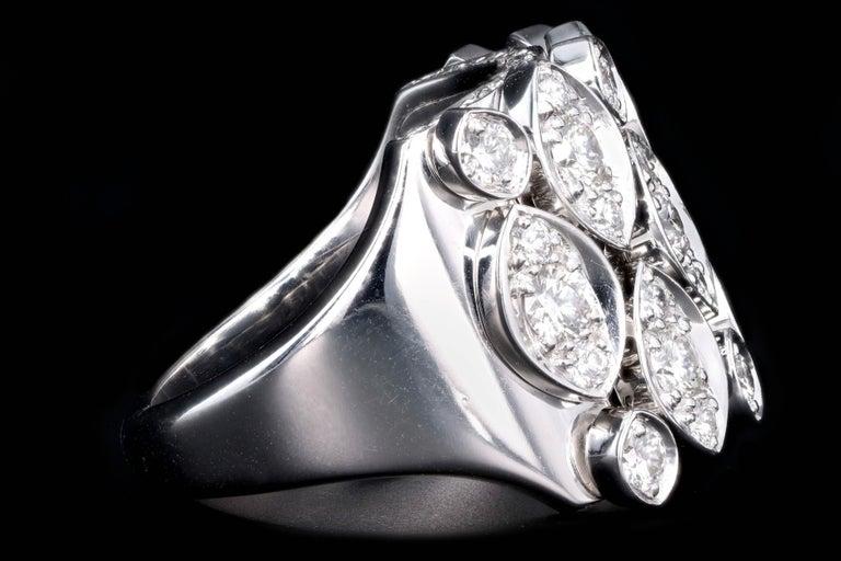 Round Cut Cartier Diadea 18 Karat White Gold Diamond Ring For Sale