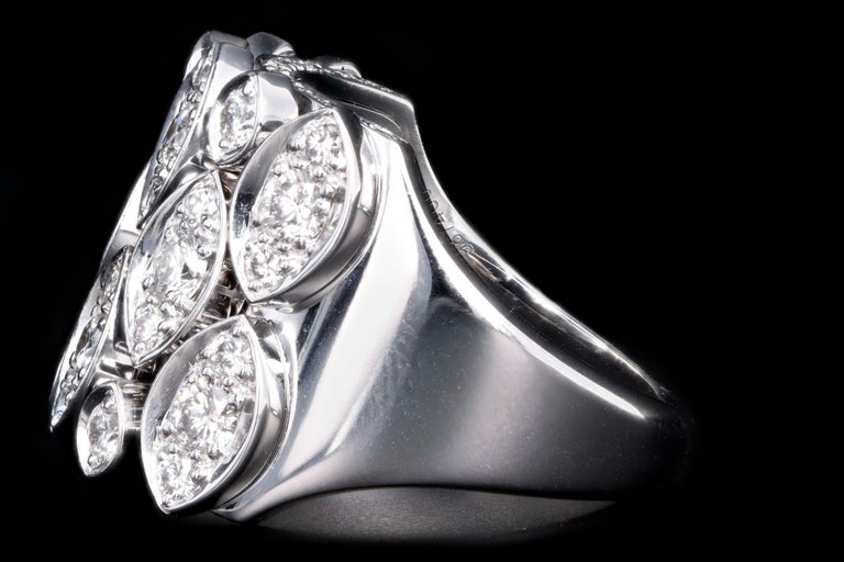 Cartier Diadea 18 Karat White Gold Diamond Ring In Excellent Condition For Sale In Cape May, NJ