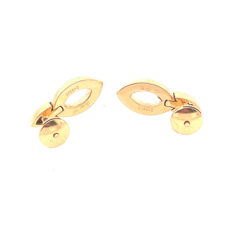 Cartier 18kt yellow gold Diade earrings with diamond accents Six VVS1 Clarity with EF Coloring