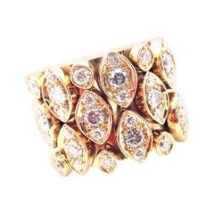 Cartier Diadea Mobile Diamond Yellow Gold Ring