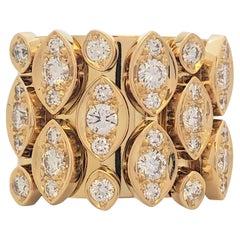 Cartier 'Diadéa' Yellow Gold and Diamond Ring