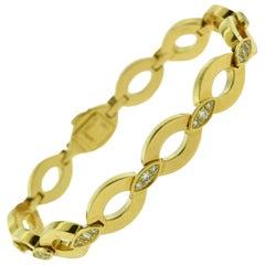 Cartier Diadea Yellow Gold Link Bracelet with Diamonds