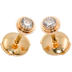 Cartier Diamants Legers Diamond 18 Karat Rose Gold Stud Earrings