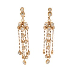 Cartier 'Diamants Légers' Yellow Gold and Diamond Earrings