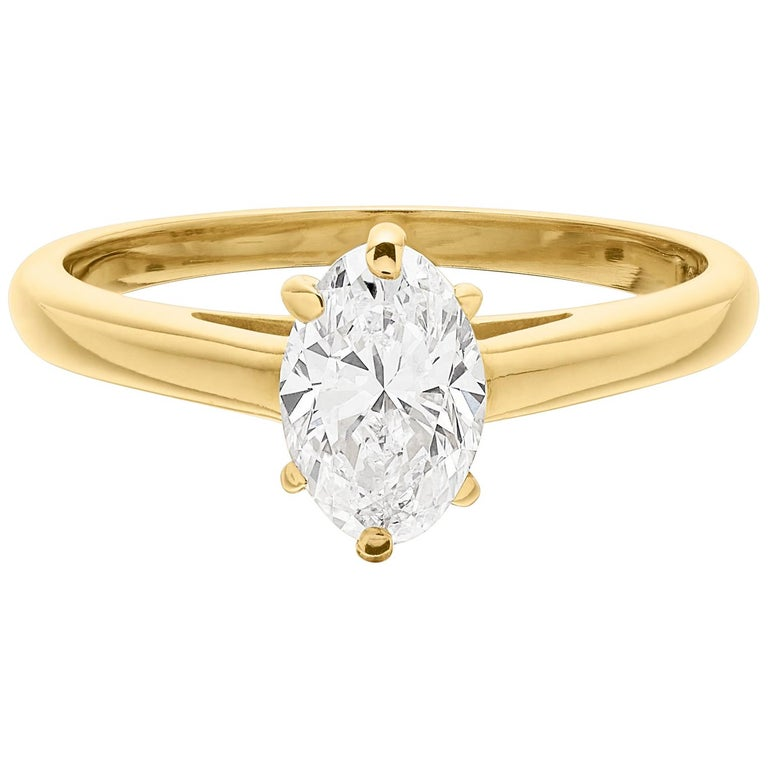 Cartier Diamond, Oval Shape Engagement Ring Set In British