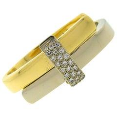 Vintage Cartier Diamond Gold Bangle Bracelet, 1970s