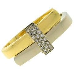 Cartier Diamond 18 Karat Gold Bangle Bracelet, 1970s