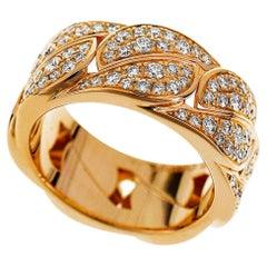 Cartier Diamond 18 Karat Pink Gold La Dona Ring