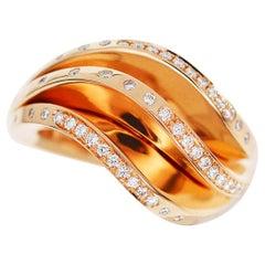 Cartier Diamond 18 Karat Pink Gold Paris Nouvelle Vague Ring