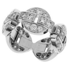 Cartier Diamond 18 Karat White Gold Himalia Ring
