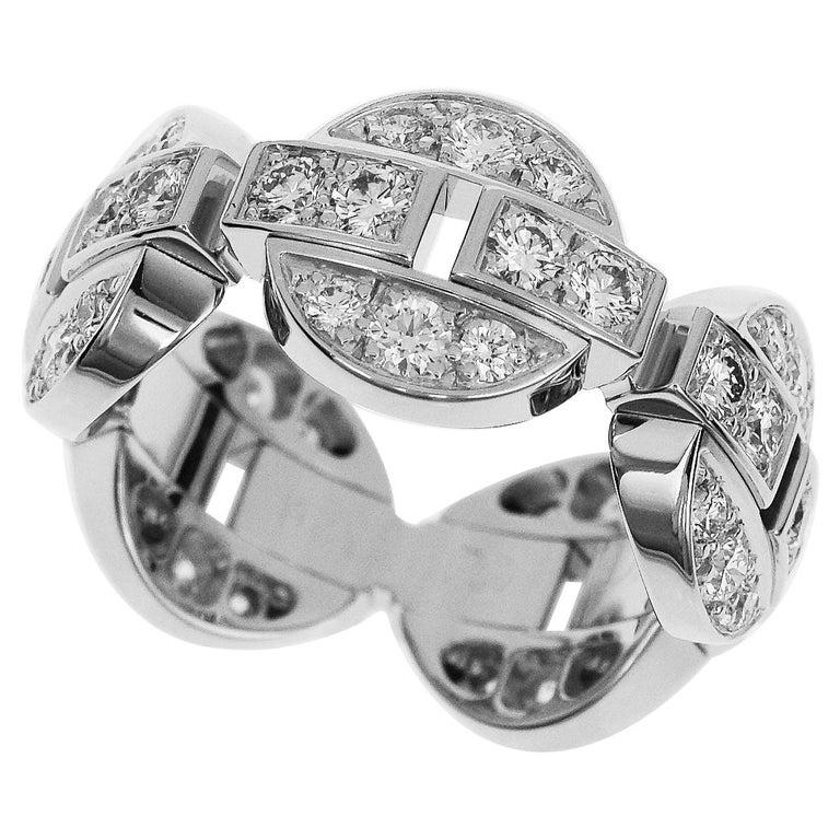 Cartier Diamond 18 Karat White Gold Himalia Ring For Sale