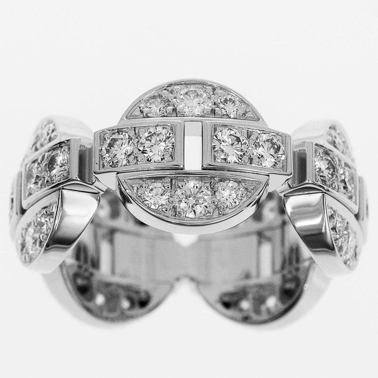 Brand:Cartier Name:Himalia Ring Material:Diamond, 750 K18 WG white gold Weight:8.2g(approx) Ring size(inch):British & Australian:H 1/2  /   US & Canada:4 /  French & Russian:47 /  German:15 /  Japanese: 7  /Swiss: 7(Approx) Width(inch):8.93mm /