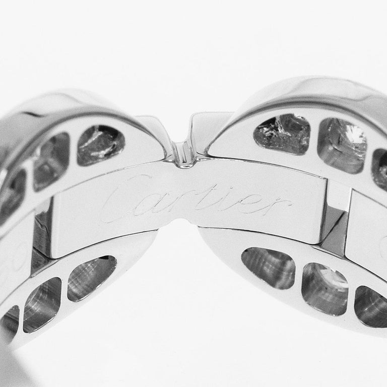 Women's Cartier Diamond 18 Karat White Gold Himalia Ring For Sale