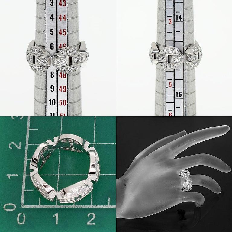 Cartier Diamond 18 Karat White Gold Himalia Ring For Sale 1