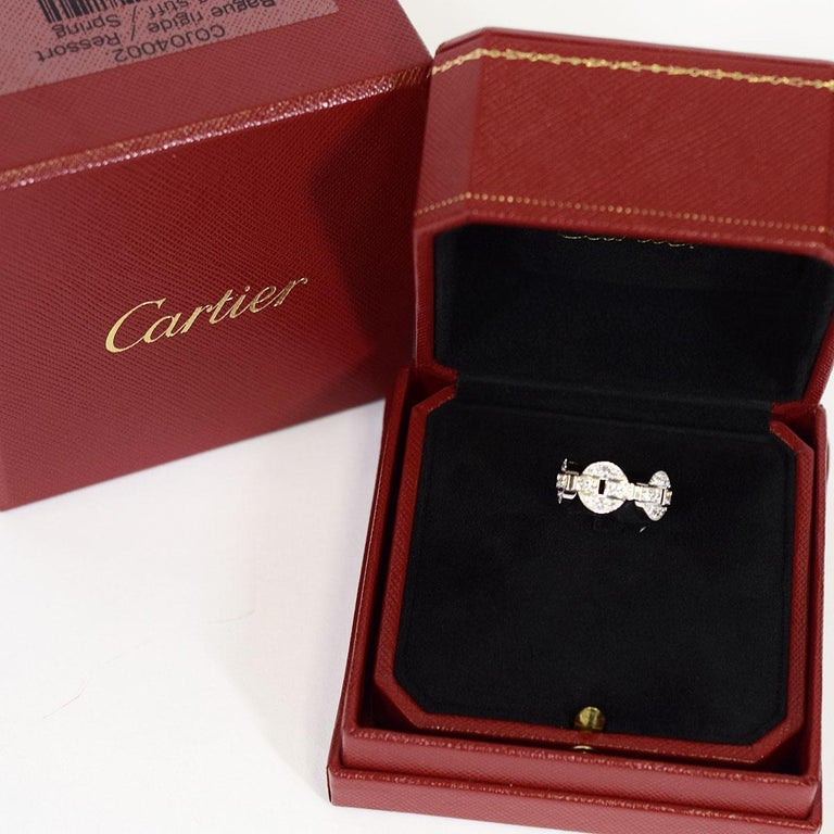 Cartier Diamond 18 Karat White Gold Himalia Ring For Sale 2