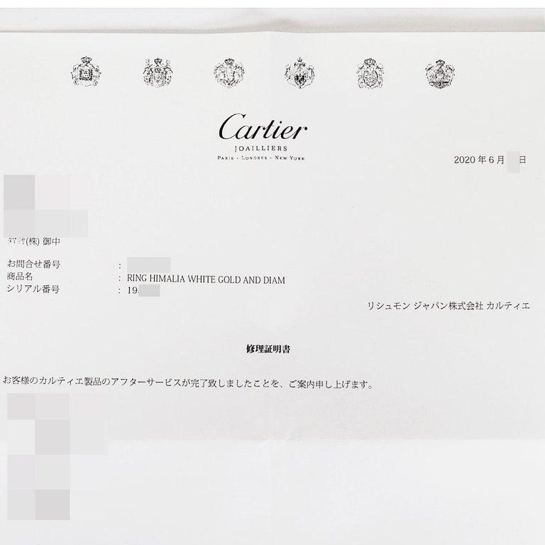 Cartier Diamond 18 Karat White Gold Himalia Ring For Sale 4