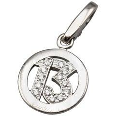 Cartier Diamond 18 Karat White Gold Lucky 13 Charm