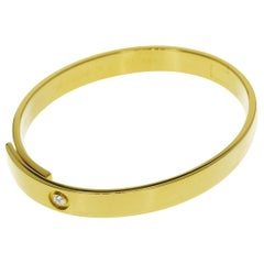 Cartier Diamond 18 Karat Yellow Gold Anniversary Bangle