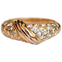 Cartier Diamond 18 Karat Yellow Gold Band Ring