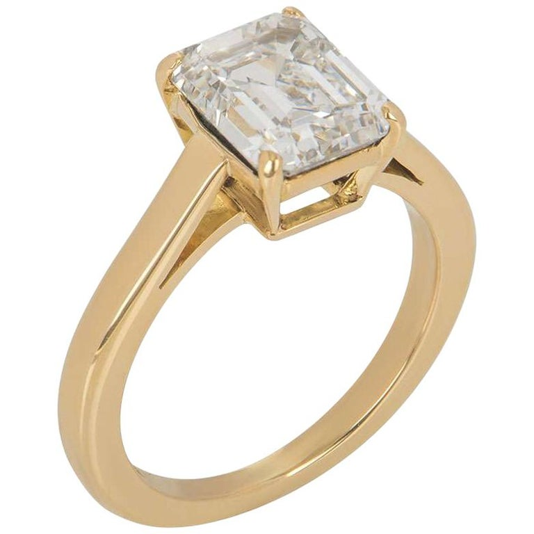 Cartier Diamond 1895 Solitaire Engagement Ring 1 84 Carat