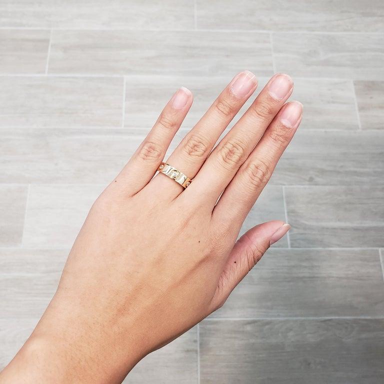 Cartier Diamond 18 Karat Rose Gold Love Ring For Sale 6