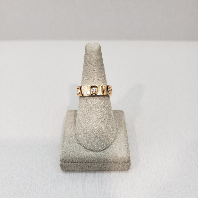Cartier Diamond 18 Karat Rose Gold Love Ring In Excellent Condition For Sale In New York, NY
