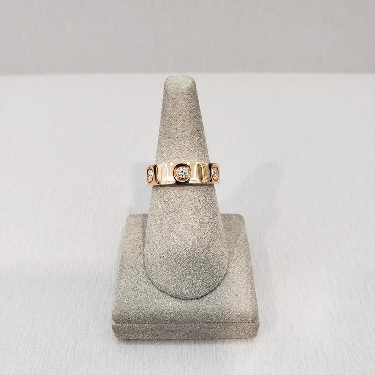 Cartier Diamond 18 Karat Rose Gold Love Ring For Sale 1
