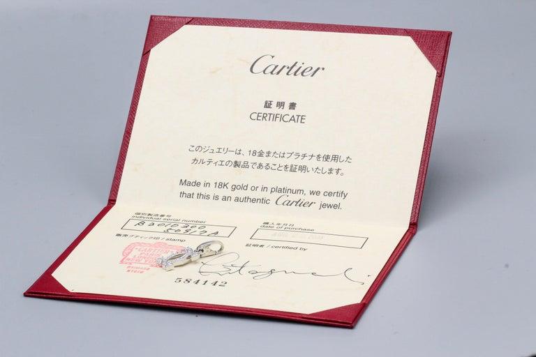 Women's Cartier Diamond 18 Karat White Gold Double C-Logo Charm