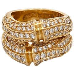 Cartier Diamond 18 Karat Yellow Gold Ring