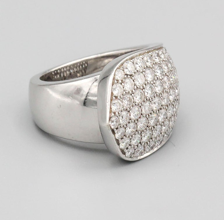 Cartier Diamond and 18 Karat White Gold Ring For Sale 2