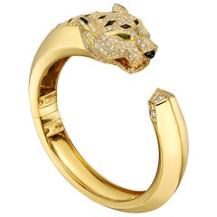 Cartier Diamond and Black Onyx Panthère Cuff Bracelet