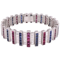 Cartier Diamond and Gemstone Bracelet