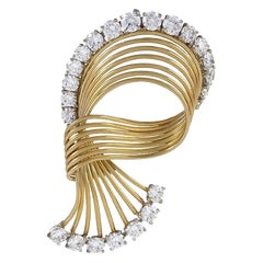 Cartier Diamond and Gold Brooch
