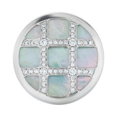 Cartier Diamond and Mother of Pearl Pasha Ring in 18k White Gold