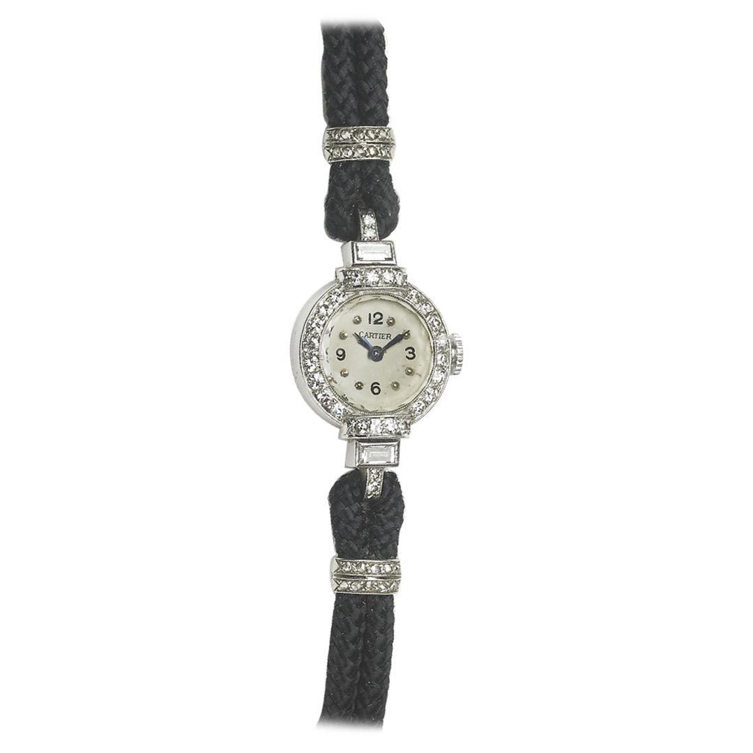 Cartier Diamond and Platinum Watch