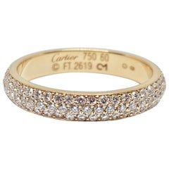 Cartier Diamond Band Ring Yellow Gold 1.38 Carat