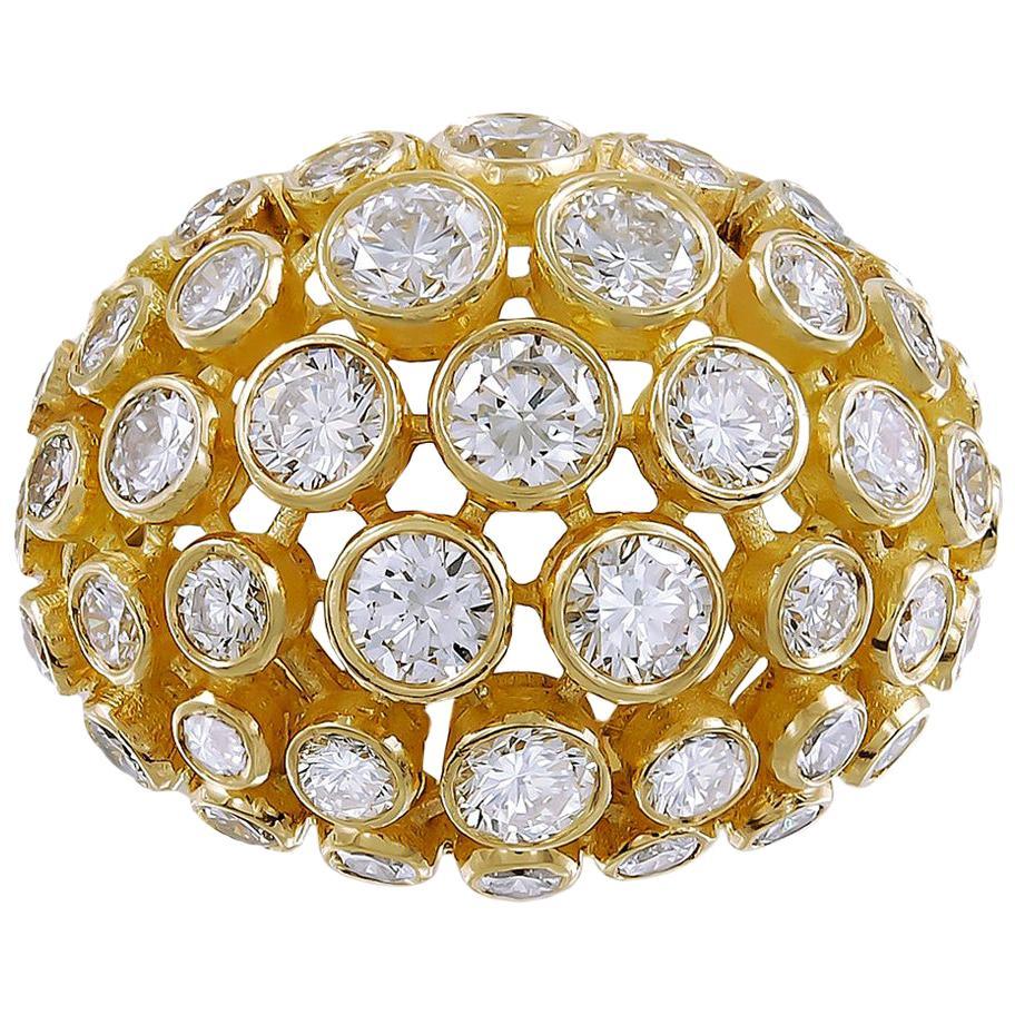 Cartier Diamond Bombe Ring