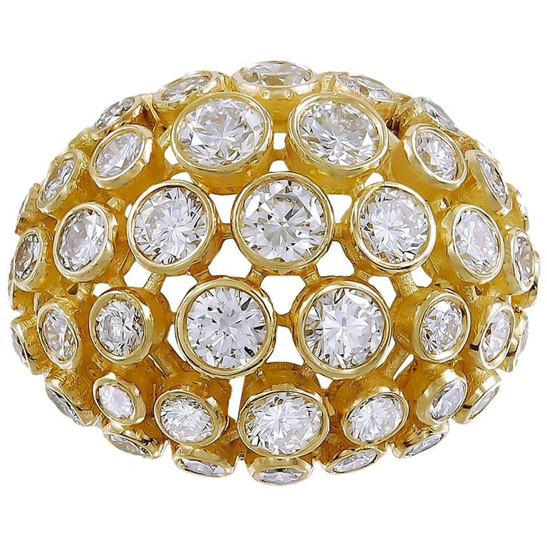 Cartier Diamond Bombe Ring For Sale
