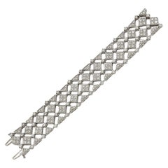 Cartier Diamond White Gold Bracelet