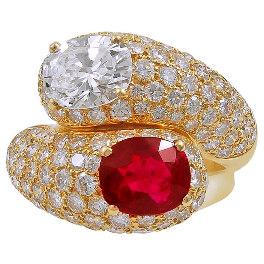 Cartier Diamond Burma Ruby Ring