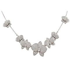 Cartier Diamond Caresse D' Orchidees Necklace