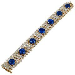 Cartier Diamond Ceylon Sapphire Bracelet