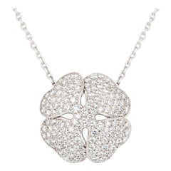 Cartier Diamond Clover 2001 Necklace 7.00 Carat