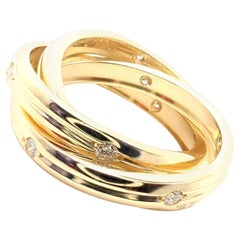 Cartier Diamond Constellation Trinity Yellow Gold Band Ring