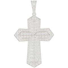 Cartier Diamond Cross Pendant 2.28 Carat