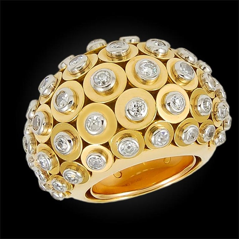 Cartier Diamond Dome Ring In Good Condition For Sale In New York, NY