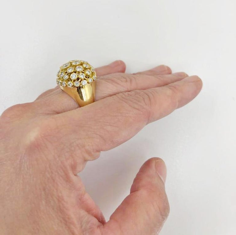 Cartier Diamond Bombe Ring In Good Condition For Sale In New York, NY